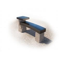 Скамейка гранит со столом