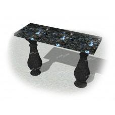 Скамейка из гранита комбинированная