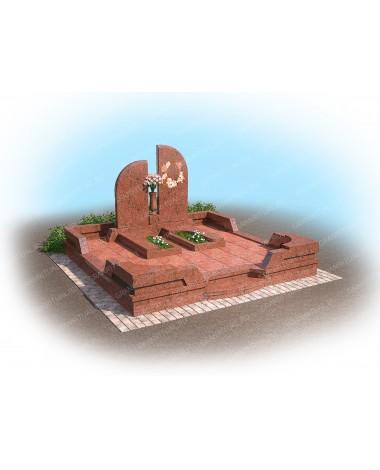 Мемориальный комплекс из гранита МК040