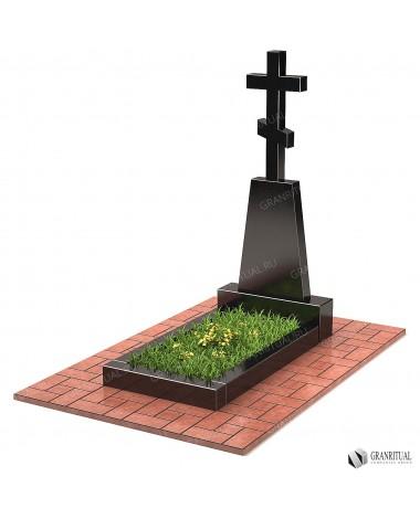 Памятник из гранита с Крестом КР004