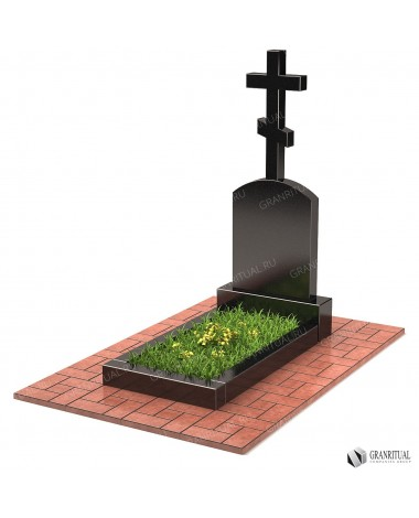 Памятник из гранита с Крестом КР013