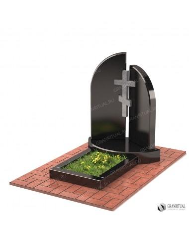 Памятник из гранита Двойной Д001