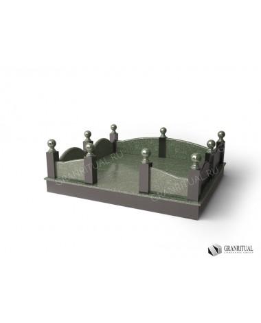 Гранитная ограда ГО011