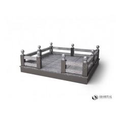 Ограда гранитная ГО 005