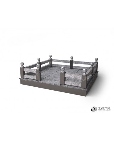 Гранитная ограда ГО005