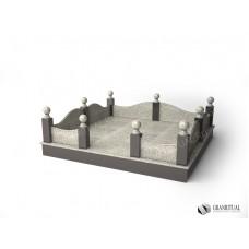 Ограда гранитная ГО 013
